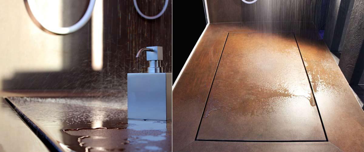 Geflieste Duschen Ohne Gefälle Mit Großen Fliesen Baqua - Duschboden ohne fliesen