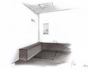 Barrierefreie Dusche mit Sitzbank