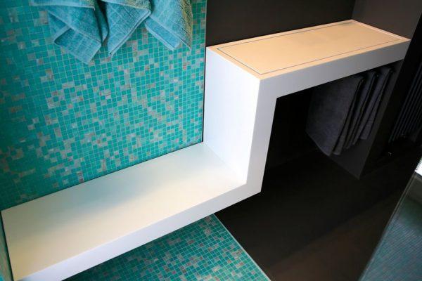 Design-duschbank